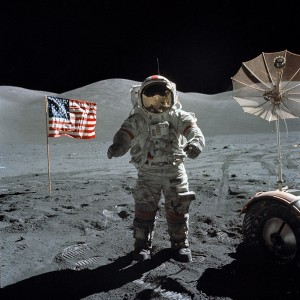"December 1972 - Apollo 17 Astronaut Eugene ""Gene"" Cernan was the last human being to set foot on the Moon (Photo: NASA)"