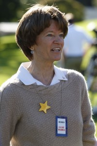 Former Astronaut Sally Ride speaks to members of the media in on the South Lawn of the White House in October, 2009. (Photo: AP Photo/Pablo Martinez Monsivais)
