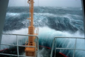 Study expedition crossing Drake Passage in the Southern Ocean (Photo: British Antarctic Survey (BAS))
