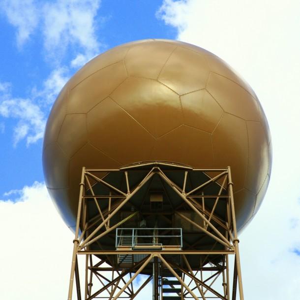 Doppler radar installation in Arizona's Empire Mountains, east of Tucson, set (Photo: Bill Morrow via Creative Commons/Flickr)