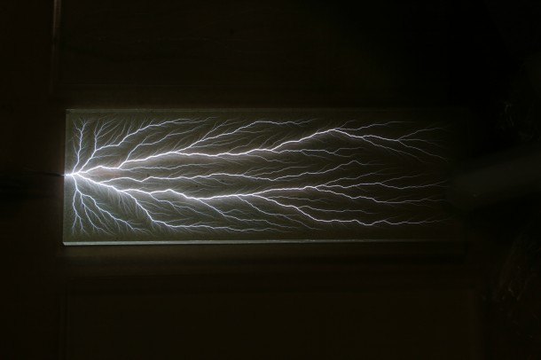 Captured lightning (Photo: Bert Hickman, Stoneridge Engineering via NSF)