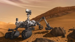 Artist concept of NASA's Mars Science Laboratory Curiosity rover, a mobile robot for investigating Mars' past or present ability to sustain microbial life. (Image: NASA/JPL-Caltech)