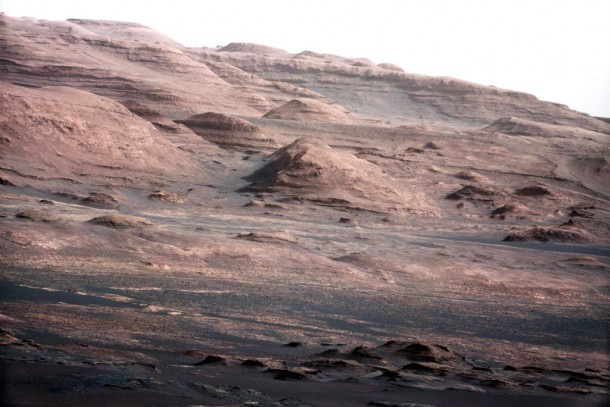This photo of the base of Mount Sharp, represents a chapter of the layered geological history of Mars. (Photo: ASA/JPL-Caltech/MSSS)