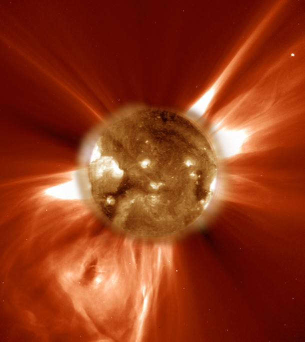 Image of a Coronal Mass Ejection from our Sun (SOHO Consortium, ESA, NASA)