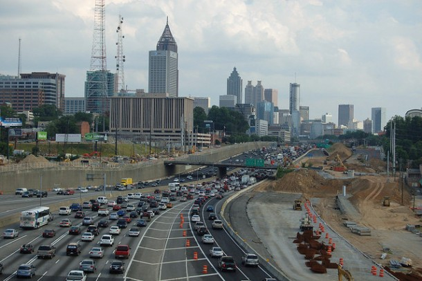 Traffic jam in Atlanta, GA