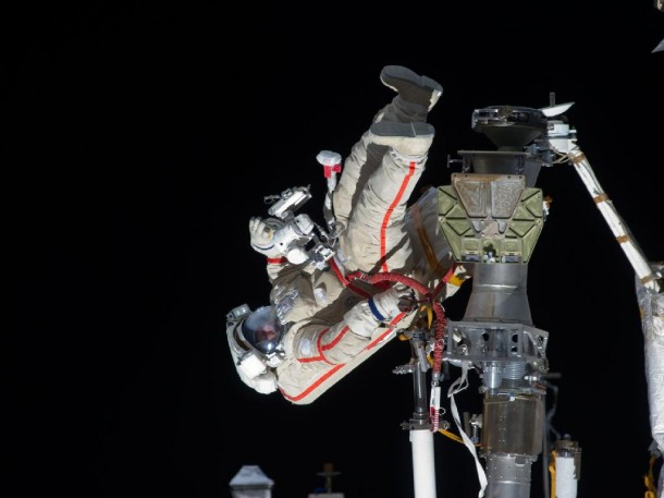 Russian cosmonaut Gennady Padalka, Expedition 32 commander, participates in a session of extravehicular activity (EVA) to continue outfitting the International Space Station. (Photo: NASA)