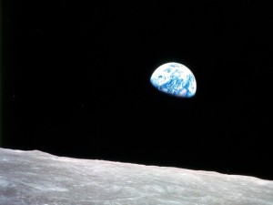 Iconic photo of the Earth and moon as seen from the Apollo 8 spacecraft while in lunar orbit on 12/24/1968. (Photo: NASA)