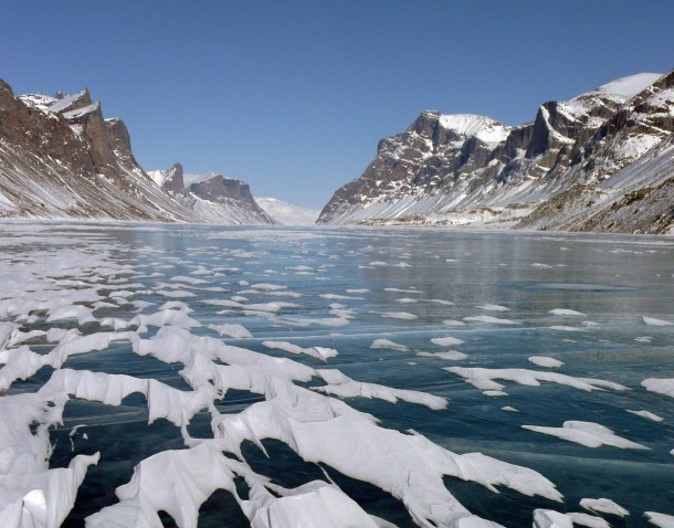 A research team from the University at Buffalo (New York) that has been studying glaciers at Ayr Lake on Baffin Island, Canada found that the island's glaciers reacted rapidly to past climate change, providing what they say is a rare glimpse into glacier sensitivity to climate events. (Photo: Jason Briner via NSF)