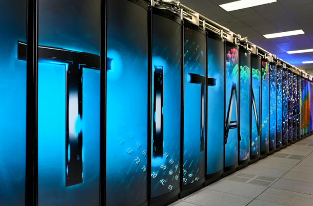 This is Titan, the world's most powerful and fastest supercomputer located at the Oakridge National Laboratory in Tennessee.  Titan has computational capability is on par with each of the world's 7 billion people being able to carry out 3 million calculations per second.   (Photo: Oakridge National Laboratory)