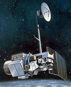 Artist drawing of Landsat-5 in space (Image: USGS)