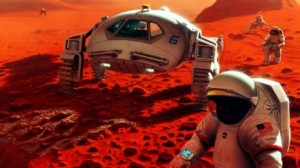 Artist's rendition of astronauts on Mars. (Image: NASA).