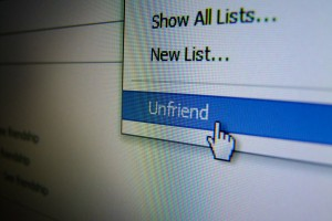 Unfriending someone in Facebook could have real world consequences (Image: Oli Dunkley/Creative Commons via Flickr)