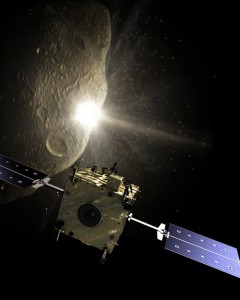 One method that's been proposed to deflect an asteroid away from a collision course with Earth is a kinetic impactor where a spacecraft rams into the object giving it a nudge and pushing it away.  This is the ESA's proposed Hidalgo space craft may be able to do just that. (Photo: ESA)