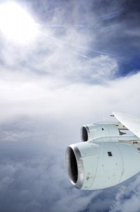 The eye of Hurricane Earl is shown outside the window of a DC-8 aircraft as air samples are gathered for a NASA study Georgia Tech scientists found living microorganisms in the samples. (Photo: NASA)