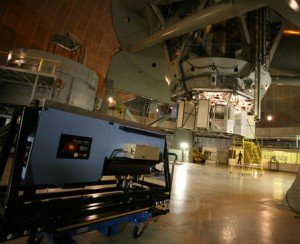 The Project 1640 instrument prior to its installation at the 200-inch Hale Telescope at Palomar Observatory (Photo: Palomar Observatory/S. Kardel)