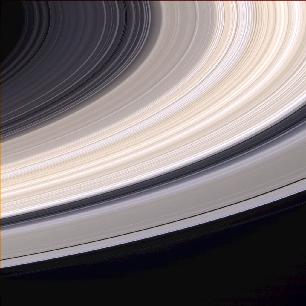Saturn Rings From Voyager