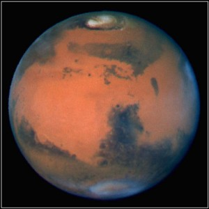 The planet Mars in late spring as imaged by the Hubble Space Telescope (NASA/JPL/California Institute of Technology)