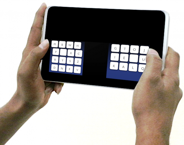 Scientists at the Max Planck Institute for Informatics have come up with a unique new keyboard called KALQ that they say will offer mobile phone and tablet users substantial peformance advantages over the traditional qwerty keyboards now being offered. (Max Planck Institute for Informatics)