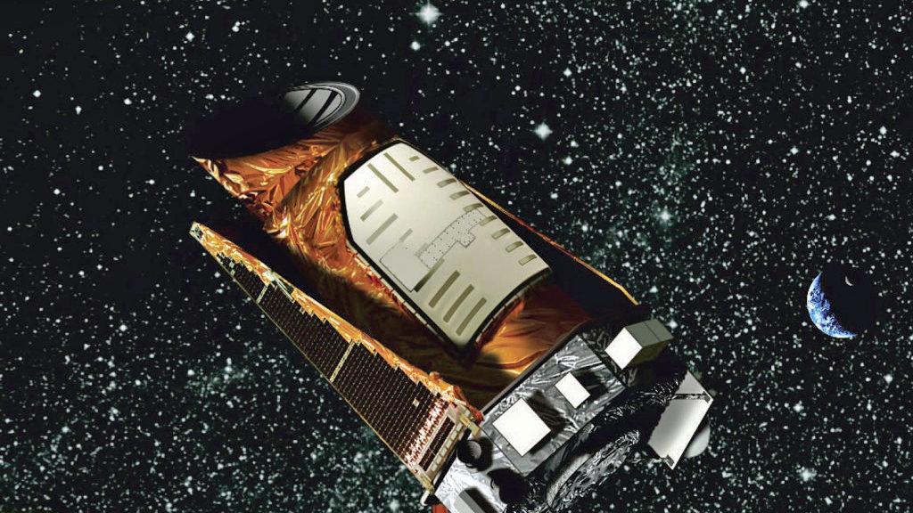 Artist's rendering of the Kepler space telescope. (NASA)