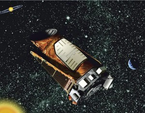 Artist's rendering of the Kepler space telescope. (NASA)