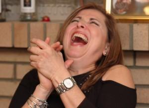 Teasing laugh