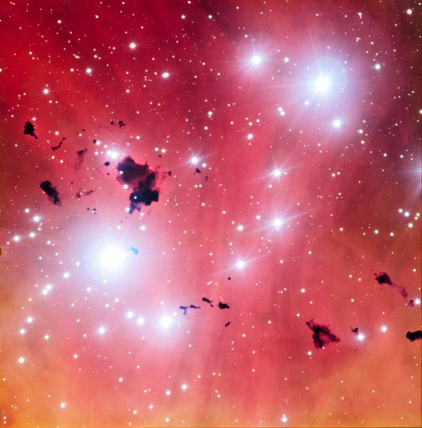 Image of IC 2944 nebula, also known as the Running Chicken Nebula or the Lambda Cen Nebula taken by the European Southern Observatory's Very Large Telescope. (ESO)