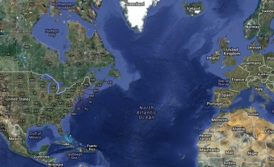 north america and europe are now separated by the atlantic ocean geologists have found clues