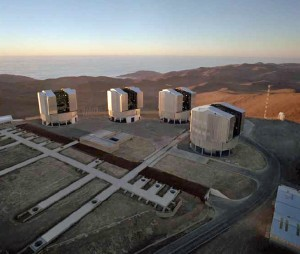 ESO's Very Large Telescope Array on Cerro Paranal Mountain (ESO)