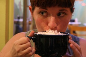 Enjoying a nice hot cup of cocoa (Orin Zebest via Creative Commons @ Flickr)