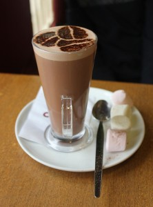 A delicious cup of hot chocolate (Paul Wilkinson via Wikimedia Commons at Flickr)