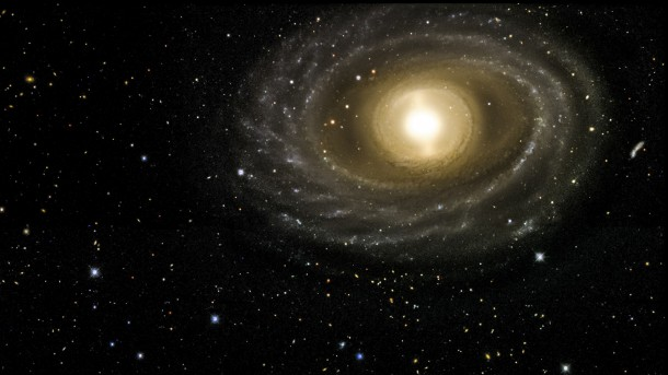 This image of the NGC 1398 galaxy was taken with the Dark Energy Camera built by the US Department of Energy's Fermilab. This galaxy, about 65 million light years from Earth is in the Fornax cluster. It is 135,000 light years in diameter, just slightly larger than our own Milky Way galaxy, and contains more than a hundred million stars. (Dark Energy Survey)