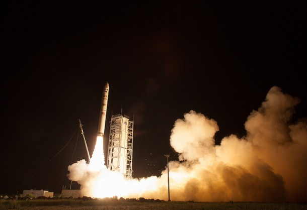 On Friday September 6, 2013 NASA launched its Lunar Atmosphere and Dust Environment Explorer (LADEE) observatory from NASA's Wallops Flight Facility in Virginia. (NASA/Carla Cioffi)