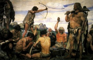 A hunting group in the Stone Age (Victor Vasnetsov/Wikimedia Commons)