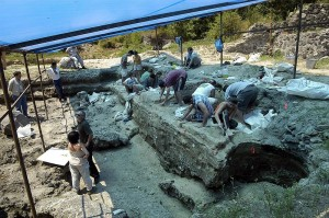 Dmanisi, Georgia excavation site circa 2007 (Georgian National Museum)
