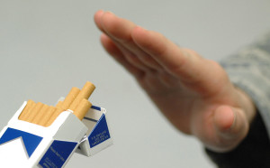 It can be tough for long time smokers to refuse a cigarette (U.S. Air Force via Wikimedia Commons)