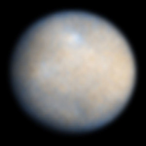 Dwarf planet Ceres as seen by NASA's Hubble Space Telescope in 2004 (NASA/ESA)