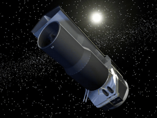 Artist conception of NASA's Spitzer Space Telescope (NASA/JPL)