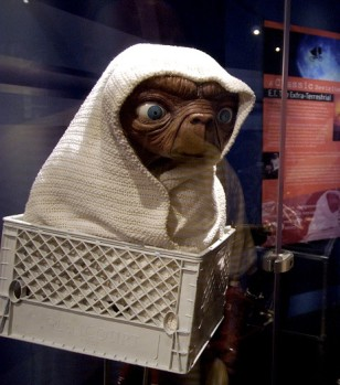 The original ET from the bicycle escape scene from Steven Spielburg's 1982 blockbuster movie. (AP Photo)