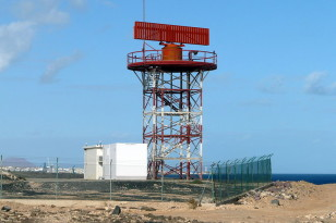 Our presence has been been transmitted into the cosmos since World War II via new technologies such as Television, FM radio and radar such as this air traffic control radar at Fuerteventura airport in the Canary Islands (Andy Mitchell via Wikimedia Commons)