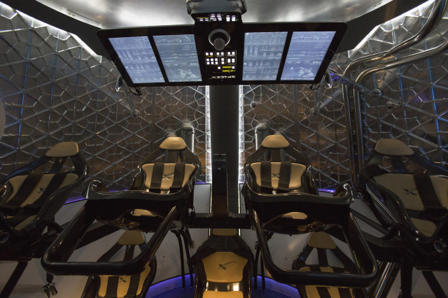 Here's a view of the inside of the newly unveiled SpaceX Dragon V2. (Reuters)