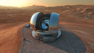 Artist's impression of the preliminary design of ESO's European Extremely Large Telescope (E-ELT) which is being built atop Cerro Armazones, in Chile's Atacama Desert. (ESO/L. Calçada)