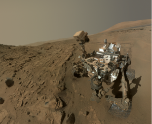 NASA's Mars Curiosity Rover captures a selfie to mark a full Martian year exploring the Red Planet. (NASA)