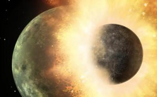 New study shows that Mercury and other unusually metal-rich objects in the solar system may be relics left behind by hit-and-run collisions in the early solar system. (NASA)