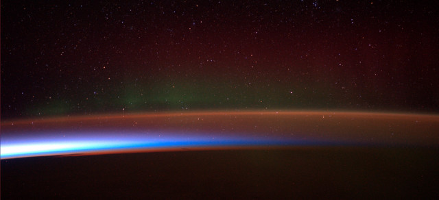 "ISS crewmember Alexander Gerst provides us with another remarkable image. This is the Antarctic aurora as seen from the space station.  On July 2, 2014, Gerst posted his photo on social media and commented - ""Antarctic Aurora fleeing from sunrise. I have rarely seen something more magical in my life!"" (ESA/NASA)"