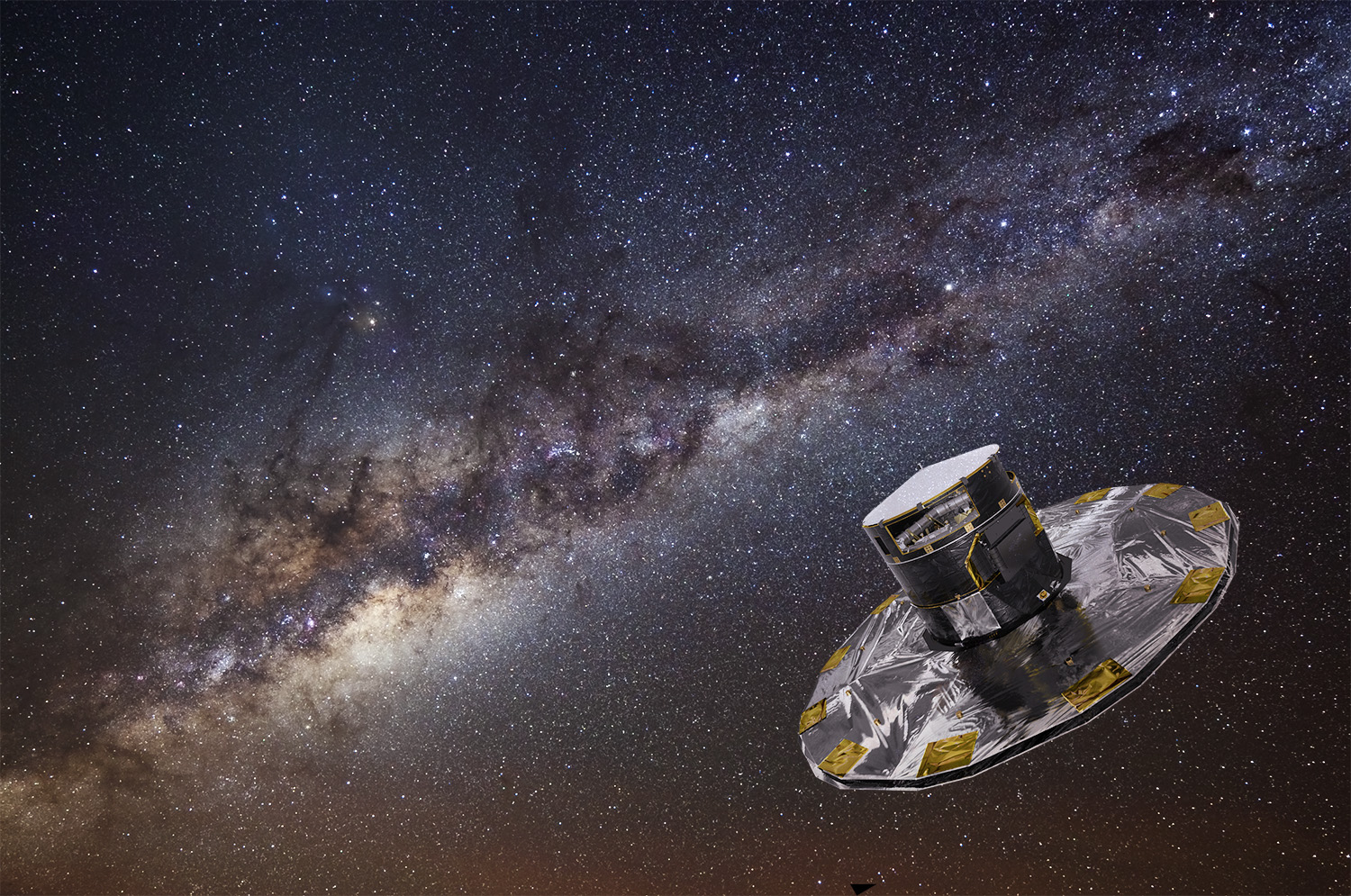 Artist S Impression Of Esa S Gaia Spacecraft Mapping The Stars Of The Milky Way C