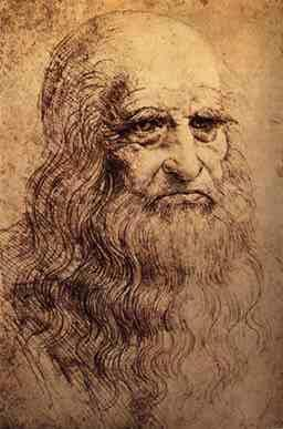 Possible self-portrait of Leonardo da Vinci (Wikimedia Commons)