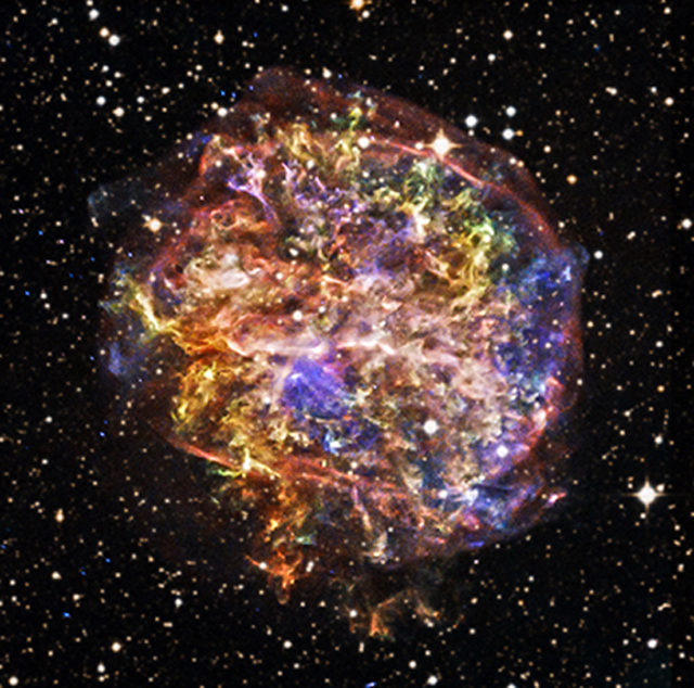 NASA celebrated the 15th Anniversary of its Chandra X-ray Observatory on July 23, 2014 by releasing some newly processed images of objects out in the cosmos. Here is G292.0+1.8 the remnants of supernova, which is a star that exploded. (NASA)