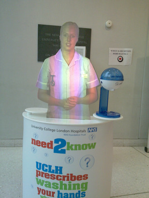 A holographic nurse at the University College London Hospital (Charles Hutchins via Flickr/Creative Commons)