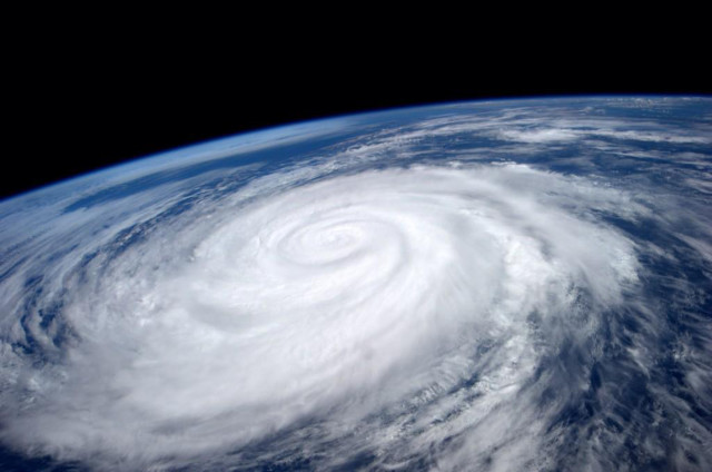 Here's a photo of Pacific Hurricane Marie that was taken from the International Space Station by astronaut/crewmember Reid Wiseman on August 26, 2014.  Officials said that enormous waves stirred up by Marie caused extensive damage to picturesque Catalina Island that's located just off the coast of Southern California.  (NASA)