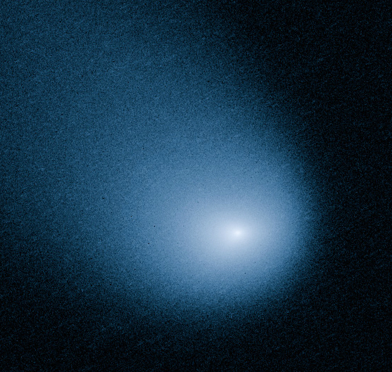 Comet C/2013 A1, also known as Siding Spring, which brushed past Mars for a rare flyby on 10/19/14.  The image of the comet was captured by the Hubble Space Telescope. (NASA, ESA, J.-Y. Li)